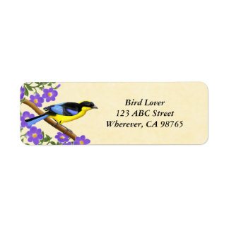Blue Winged Mountain Tanager Customizable Labels