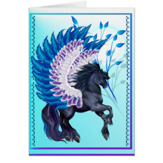 Blue Winged Pegasus Card