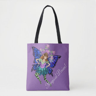 Blue Winged Pixie Tote Bag