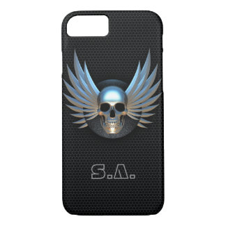 Blue Winged Skull iPhone 7 Case