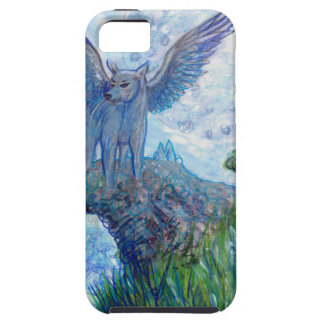 Blue Winged Wolf Wolves Canine Dog Doggy Lupin Case For The iPhone 5