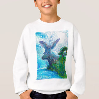 Blue Winged Wolf Wolves Canine Dog Doggy Lupin Sweatshirt