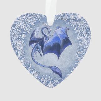 Blue Winter Dragon Fantasy Nature Art