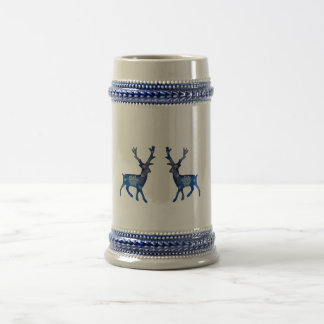 Blue Winter Reindeers Mug