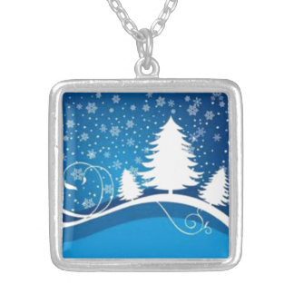 Blue Winter Silver Plated Necklace