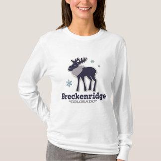 Blue winter snowflake moose Breckenridge Colorado T-Shirt