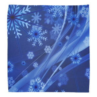 Blue Winter Snowflakes Christmas Head Kerchiefs