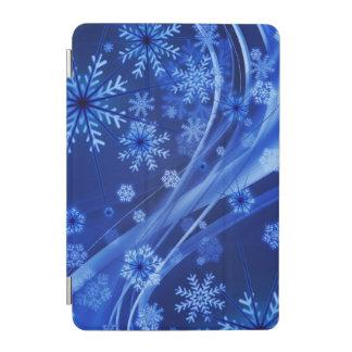 Blue Winter Snowflakes Christmas iPad Mini Cover