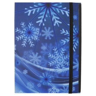"Blue Winter Snowflakes Christmas iPad Pro 12.9"" Case"