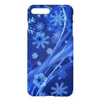 Blue Winter Snowflakes Christmas iPhone 8 Plus/7 Plus Case