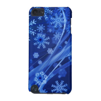 Blue Winter Snowflakes Christmas iPod Touch (5th Generation) Covers