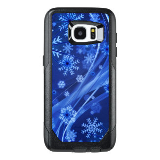 Blue Winter Snowflakes Christmas OtterBox Samsung Galaxy S7 Edge Case