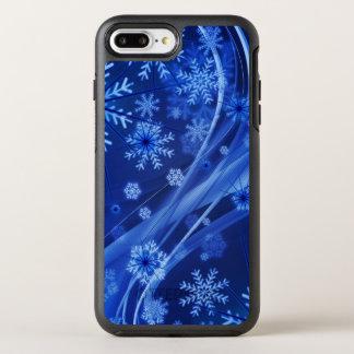 Blue Winter Snowflakes Christmas OtterBox Symmetry iPhone 8 Plus/7 Plus Case