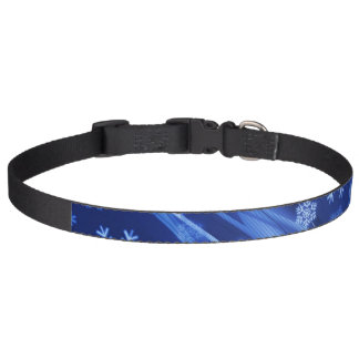 Blue Winter Snowflakes Christmas Pet Collars