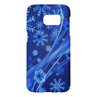 Blue Winter Snowflakes Christmas Samsung Galaxy S7 Case