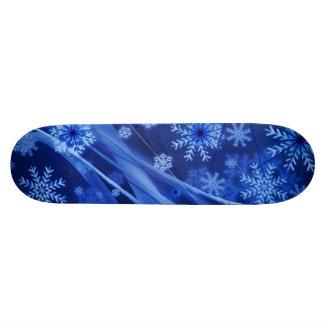 Blue Winter Snowflakes Christmas Skateboard Decks