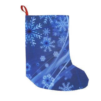 Blue Winter Snowflakes Christmas Small Christmas Stocking