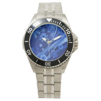 Blue Winter Snowflakes Christmas Watch