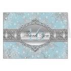 Blue Winter Wonderland Sweet 16 Thank You Card