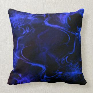 Blue Wisp Throw Pillow
