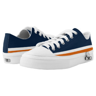 Blue with Orange and White Trim Lo-Top