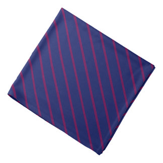 Blue with Thin Purple Diagonal Stripes Bandana