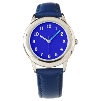 Blue with White Numbers Watch