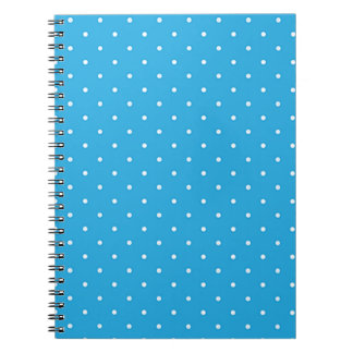 Blue with White Polka Dots Notebook