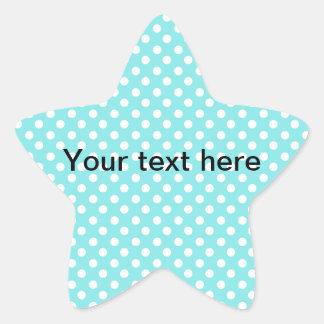 Blue with white polkadots star sticker