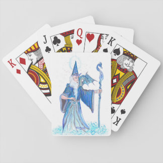 Blue Wizard Playing Cards