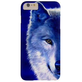Blue Wolf at Night iPhone 6 Plus Case