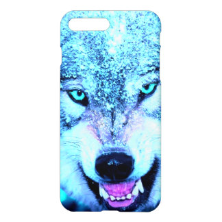 Blue wolf face iPhone 8 plus/7 plus case