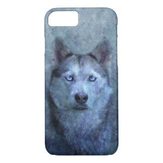 Blue wolf husky Case-Mate iPhone case