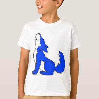Blue Wolf Pup Howling T-Shirt