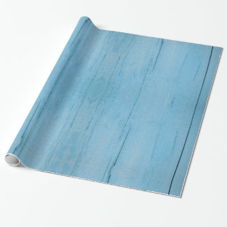 Blue wood gift paper, wooden boards blue wrapping paper