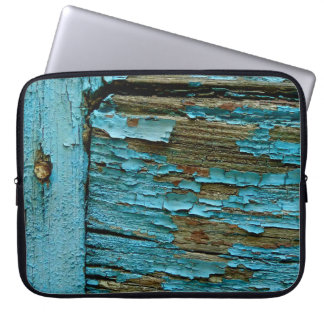 Blue wood laptop sleeve. laptop sleeve