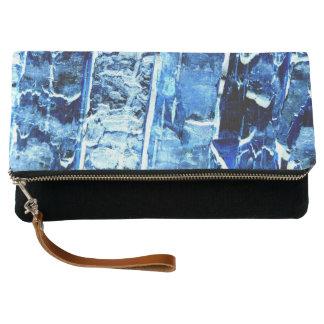 Blue Wood Pattern Clutch Bag