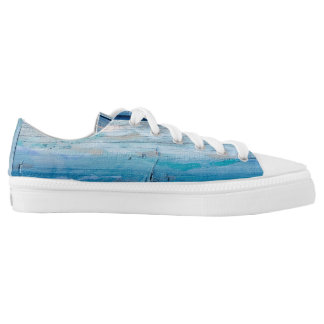 Blue Wood Zipz LowTop Shoes, Men  / Women Low-Top Sneakers