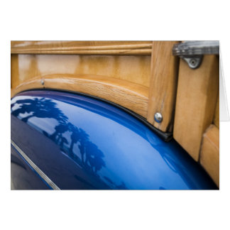 Blue Woody Reflections Card