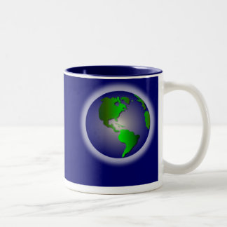 Blue World of Thanks Mug2 Two-Tone Mug
