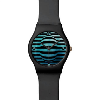 blue wrap - wristwatch
