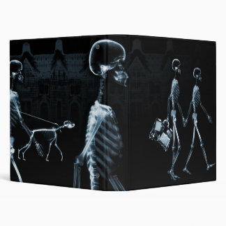 Blue X-Ray Skeletons Midnight Stroll Binder
