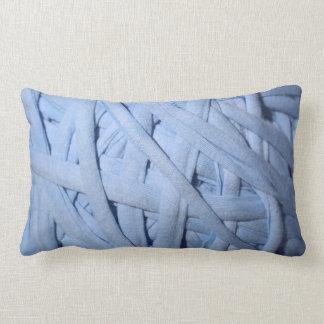 Blue Yarn Details Lines Texture Cushion Pillow