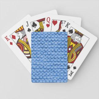 Blue Yarn Knit Playing Cards