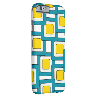 Blue yellow abstract pattern barely there iPhone 6 case