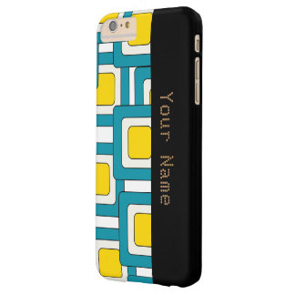 Blue yellow abstract pattern barely there iPhone 6 plus case