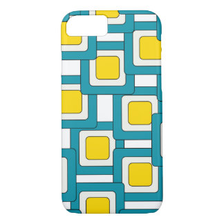 Blue yellow abstract pattern iPhone 7 case