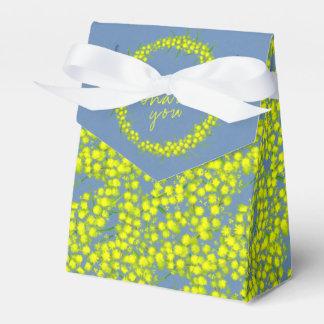 Blue yellow acacia wattle art thank you gift boxes
