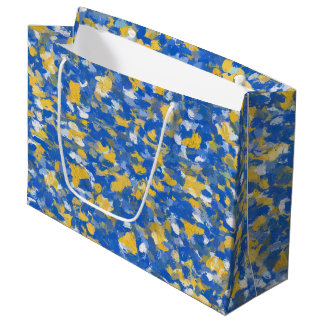 Blue, Yellow and White Paint 8200 Large Gift Bag