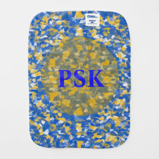 Blue, Yellow and White Paint Splashes 8200 Burp Cloth